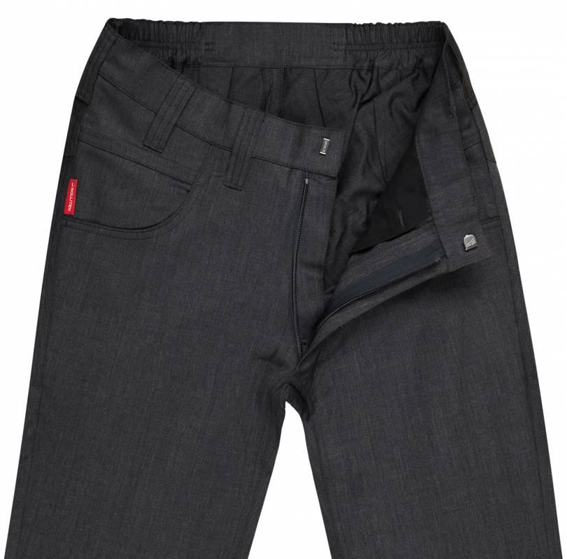 Slim-Fit Hose aus elastischem Schurwoll-Mix
