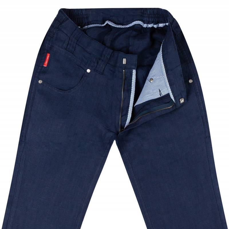 Slim-Fit Hose aus Leinen