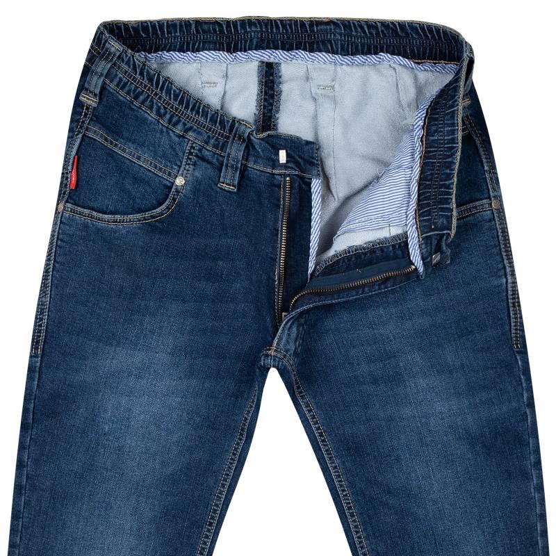 Thermo-Schlupf Regular-Fit Jeans aus Stretch-Denim